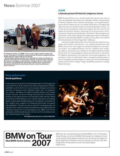 Ladda ner nyheterna Notiser från BMW-världen. (PDF, 284 kB)