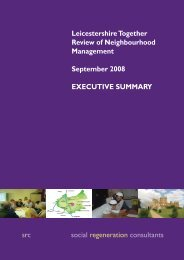 Neighbourhood Mangement Executive Summary - Leicestershire ...
