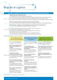 Program at a glance - Clean Energy Expo