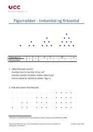 Figurrækker - trekanttal og firkanttal - mitBUF.dk