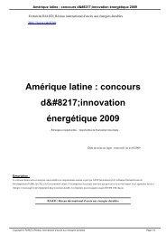 Amérique latine : concours d'innovation énergétique 2009