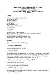 September 2012 - Mental Welfare Commission for Scotland