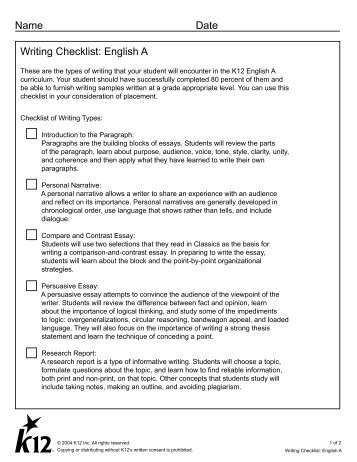 essay writing checklist - Monza berglauf-verband com