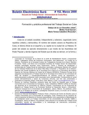 Boletín Electrónico Surá - Ts.ucr.ac.cr - Universidad de Costa Rica