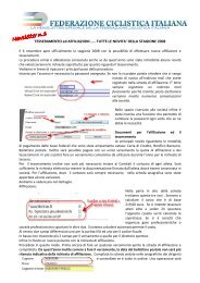 Newsletter n.3 - Federazione Ciclistica Italiana