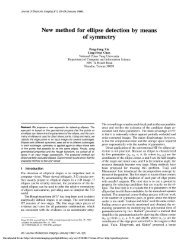 New method for ellipse detection by means