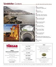 ‹çindekiler Contents - Türkiye Seyahat Acentaları Birliği
