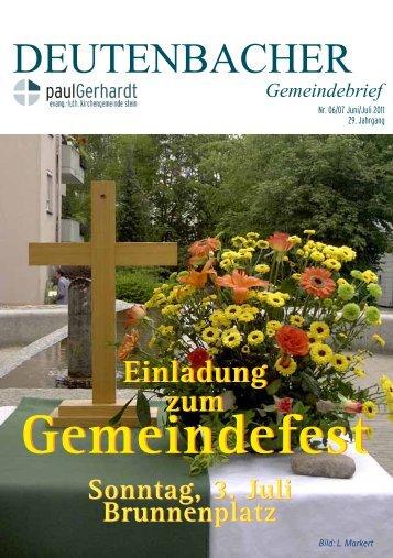 Gemeindefest Gemeindefest - Paul-Gerhardt-Kirchengemeinde Stein