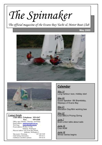 The official magazine of the Evans Bay Yacht & Motor Boat Club
