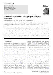 Guided image filtering using signal subspace projection