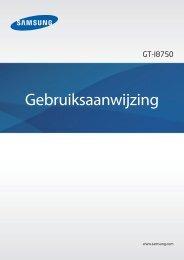 Samsung Ativ S i8750 Handleiding downloaden - Phoneshop