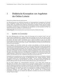 1 Didaktische Konzeption von Angeboten des Online-Lernens