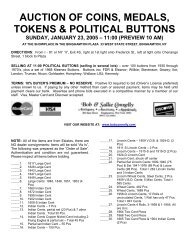 auction of coins, medals, tokens & political buttons - Bob & Sallie ...