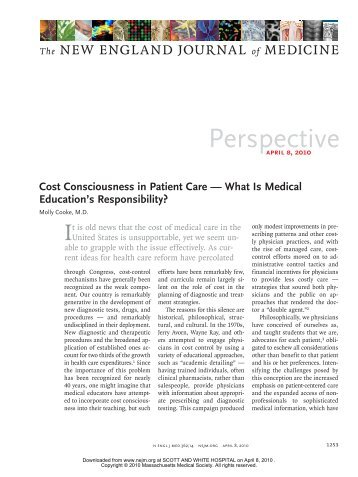 Cost of Care - Healthcare Professionals