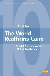ICPD at Ten The World Reaffirms Cairo - UNFPA Nigeria