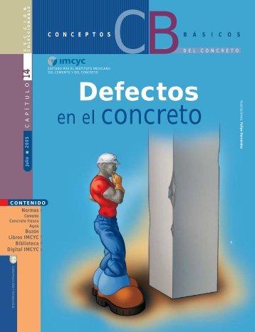 Defectos en el concreto - Instituto Mexicano del Cemento y del ...