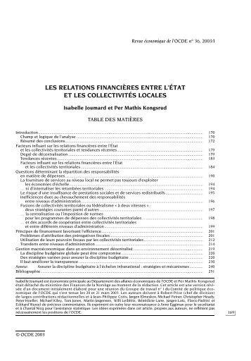 Revue économique de l'OCDE - Organisation for Economic Co ...
