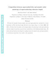 Competition between superconductivity and nematic order - Harvard ...