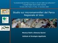 Studio sui micromammiferi del Parco Regionale di Veio - Cibele