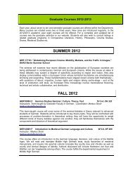 FALL 2012 - Germanic Languages and Literatures