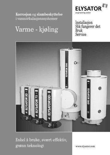 Elysator 50-1000 montasjevejledning - Vaillant