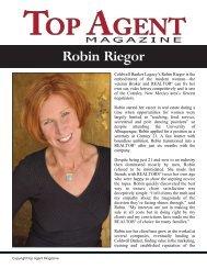 Robin Riegor - Top Agent Magazine