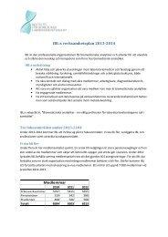 IBL:s verksamhetsplan 2013-2014 - Institutet för biomedicinsk ...