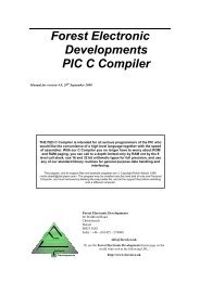 Forest Electronic Developments PIC C Compiler