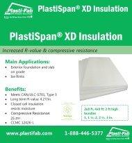 PlastiSpan® XD Insulation - Plasti-Fab