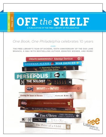 One Book, One Philadelphia celebrates 10 years - Free Library of ...