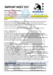 ŠAMPIONÁT NADĚJÍ 2013 - Pony komise ČJF