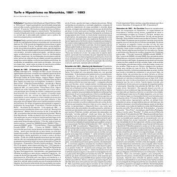 Turfe e Hipodrismo no Maranhão, 1881 – 1893 - Atlas do Esporte no ...