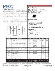 EDS-100630 (E) SGA-2463 - RfMW