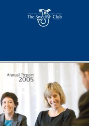 Annual Report 2005 - The Swedish Club