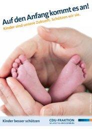 Auf den Anfang kommt es an! - CDU-Landtagsfraktion Brandenburg