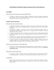 Frank Shipman Conference Papers by Research Area and ...
