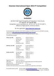 Estonian International Open 2013 FT Competition ... - Field Target
