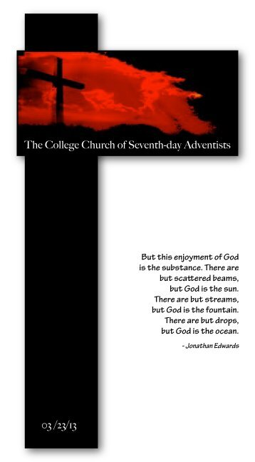 The College Church of Seventh-day Adventists - Atlantic Union ...