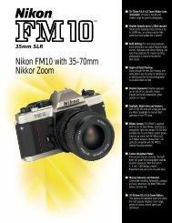Nikon FM10 35mm SLR Brochure
