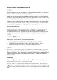 Terms and Conditions for Industry Briefings 2013 ... - Tourism Australia