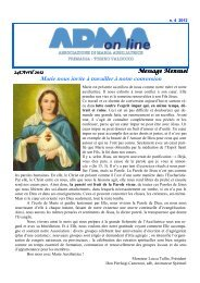 Marie nous invite à travailler à notre conversion