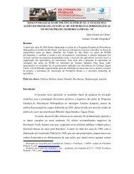 descentralização de políticas públicas - SciELO Proceedings