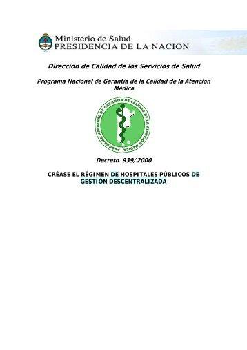 R.M. 939/2000 - Ministerio de Salud