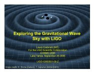 Exploring the Gravitational Wave Sky with LIGO - cosmo 06