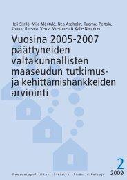 Julkaisu 2_2009 - Maaseutupolitiikka
