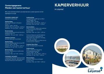 Folder kamerverhuur - Gemeente Lelystad