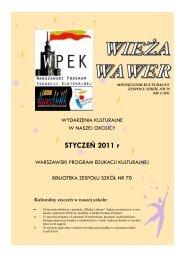 kurier 1-2011 - Witamy na stronie Zespołu Szkół nr 70 w Warszawie