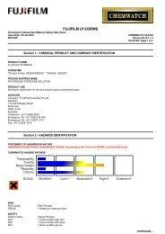 Chemwatch Australian MSDS 32-0742 - FUJIFILM Australia