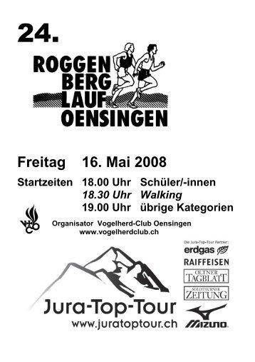 Roggen-Berglauf Programmheft 2008 - Jura-Top-Tour