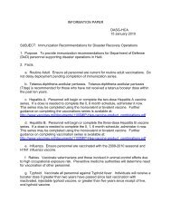 Immunization Recommendations for Disaster Recovery Operations ...